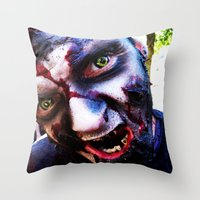 zombies Throw Pillows featuring Zombies ! by bobbierachelle