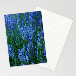 Glowing Blue Floral Stationery Cards