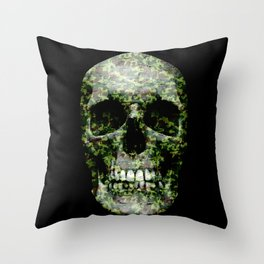 camou is new black Throw Pillow