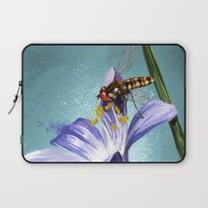 Wasp on flower 11 Laptop Sleeve