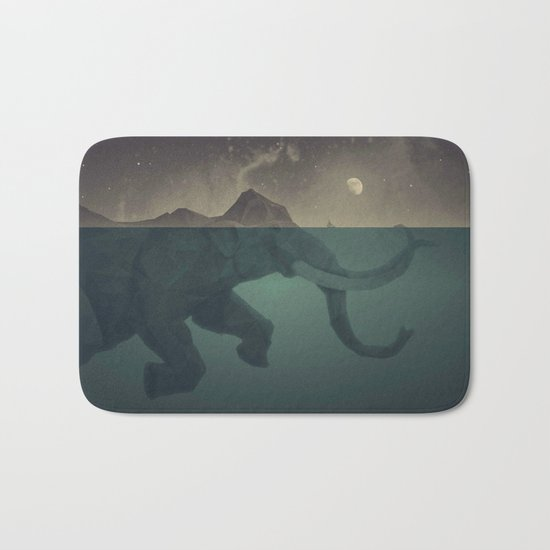 Elephant mountain Bath Mat