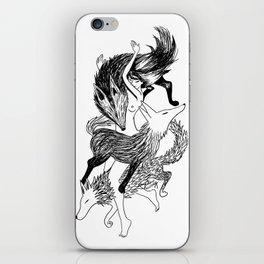 Femme Loup Tattoo iPhone Skin