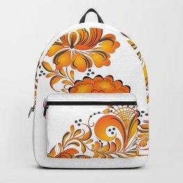 Flowers russian folk Backpack