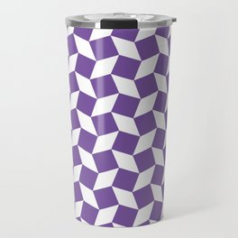 Purple Op Art Pattern Travel Mug
