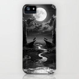 XVIII. The Moon Tarot Card Illustration iPhone Case