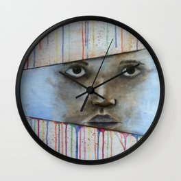 through the colors of life Wall Clock