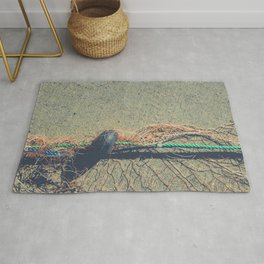 Fishnet with buoy on rope Rug