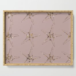 Rose gold starfish Serving Tray