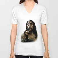 danny haas V-neck T-shirts featuring Danny Trejo by Duke78
