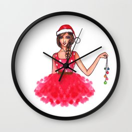 Christmas illustration Wall Clock