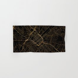 Black and gold Charlotte map Hand & Bath Towel