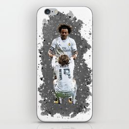 Watercolor Marcelo and modric iPhone Skin