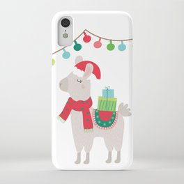 Christmas llamas V iPhone Case