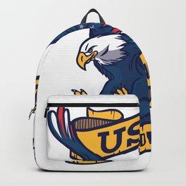 Independence Day USA America Adler Backpack