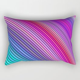 Cold rainbow stripes Rectangular Pillow