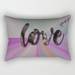 love you as you are Rectangular Pillow