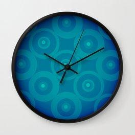 Blue To Black Wall Clock