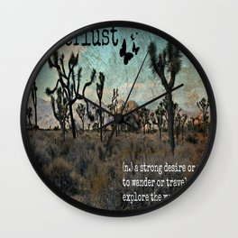 Wanderlust Inspirational Travel Quote  Wall Clock