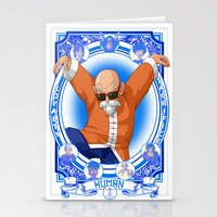 dragonball Stationery Cards featuring DragonBall Z - Human House by Art of Mike