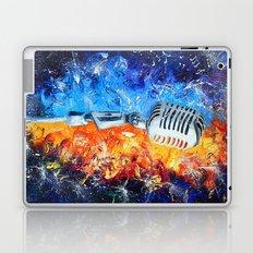 Golden microphone Laptop & iPad Skin