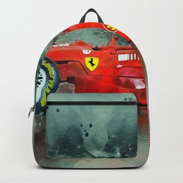F1 Sports Car Backpack