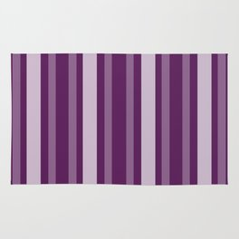 Purple Victorian Lady Stripe Rug
