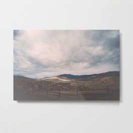 Horse Pasture on the side of a mountain in Colorado Metal Print