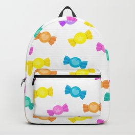 Cute Rainbow Candy Shop Pattern – Pastel Colors Backpack