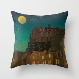 Scotland, Edinburgh Throw Pillow