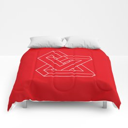 Optical illusion - Impossible figure Comforters