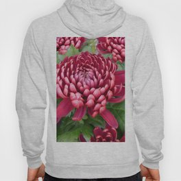 Red chrysanthemum Hoody