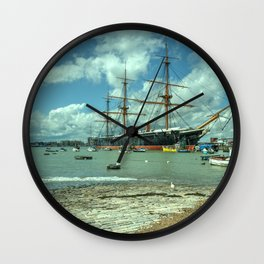 HMS Warrior at Portsmouth Harbour Wall Clock