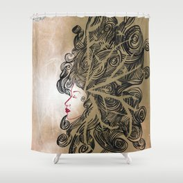 Enlightenment - Acrylic and Ink paint Shower Curtain