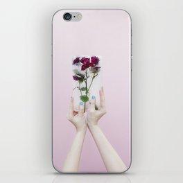 frozen flowers iPhone Skin