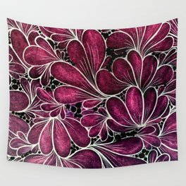 Funny Flowers Wall Tapestry