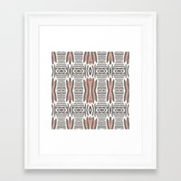 ikat Framed Art Prints featuring Ikat  by bunglo by shay spaniola