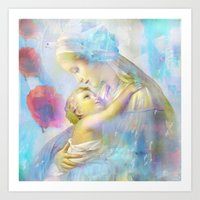 In the Arms of Mary Art Print
