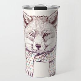 Fox and scarf Travel Mug
