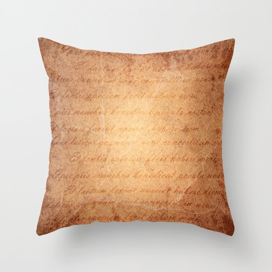 Old World Throw Pillow