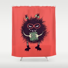 Evil Bug Student Loves To Read Shower Curtain