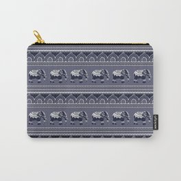Ethnic pattern/ Elephants Carry-All Pouch