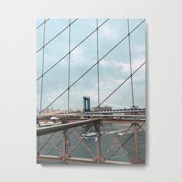 Brooklyn Bridge. Metal Print