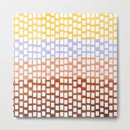 White Squares Metal Print