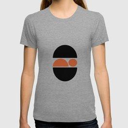 Sleeping Baby - Zen Minimalist Design - Black & Tan T-shirt
