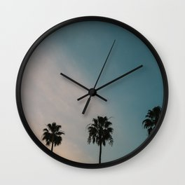 Palm Trees, Culver City Wall Clock