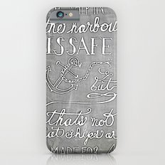 Chalkboard hand-lettered motivational quote Slim Case iPhone 6s