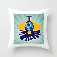 rio de janeiro Throw Pillows featuring Rio de Janeiro by siloto