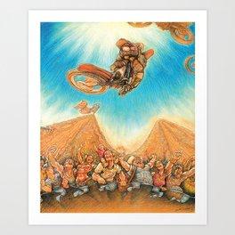 Motocross 4 Art Print