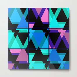 Colorful triangles . No. 1 Metal Print