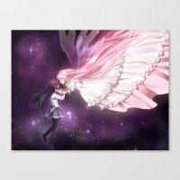 madoka magica Canvas Prints featuring Madoka Magica by alexiadraws